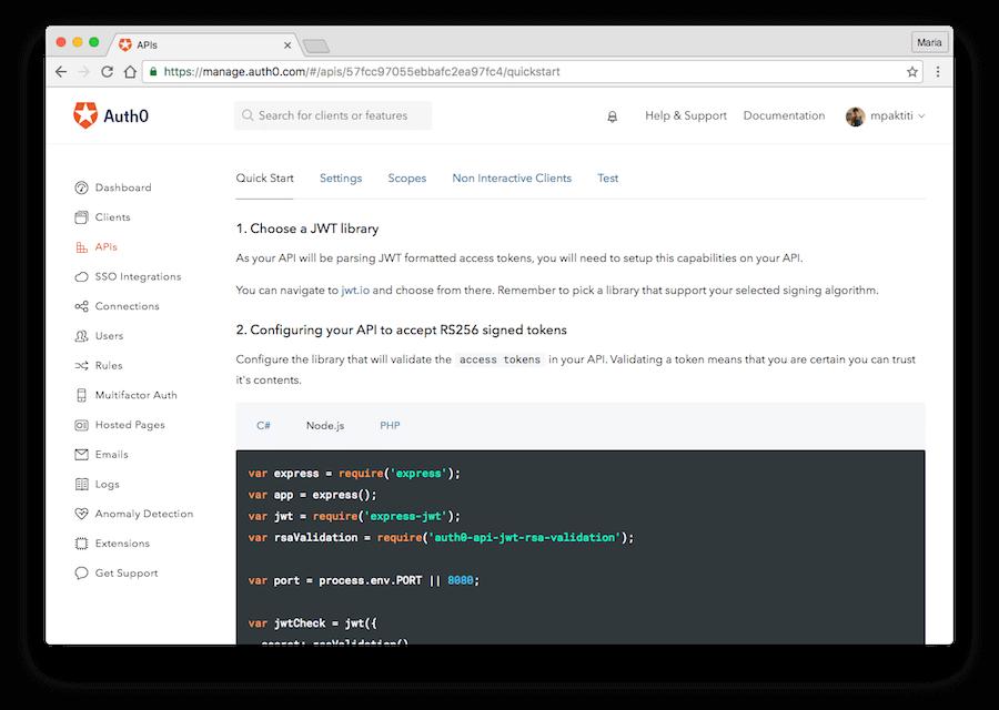 API Quick Starts