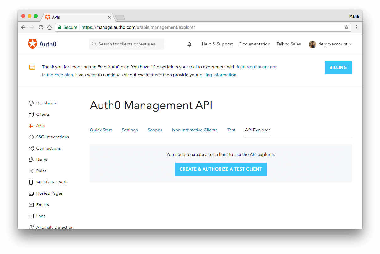 Create and Authorize Client