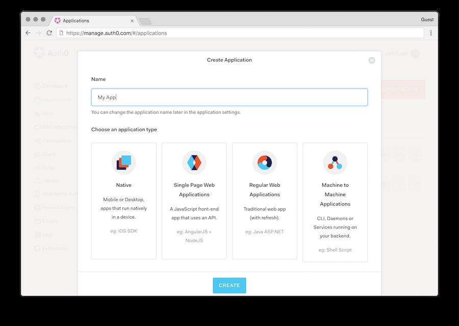 Create Client window