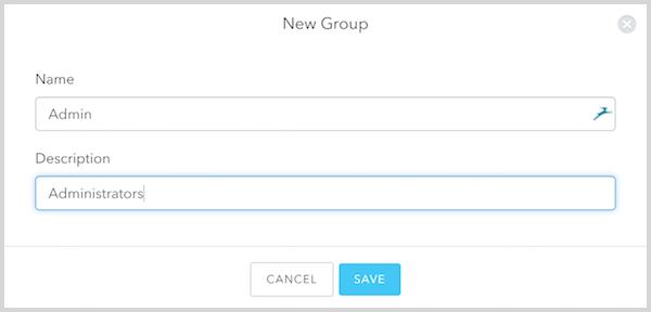 Create Admin Group