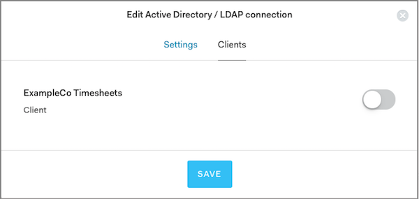 Enable the client to use this AD connection