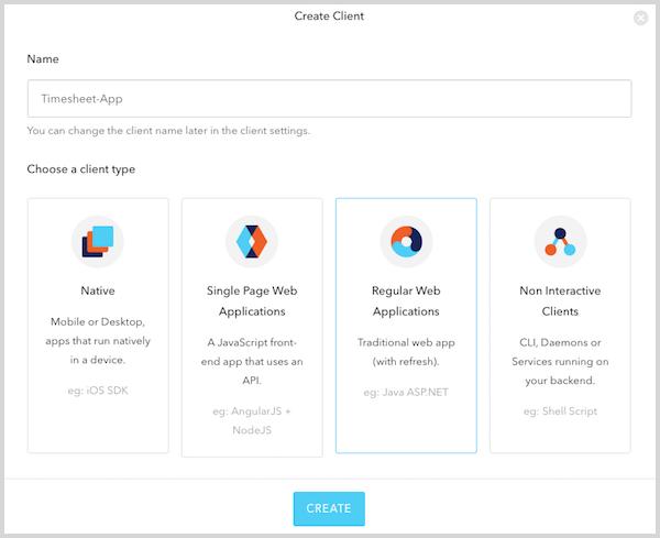 Create Client Dialog Box