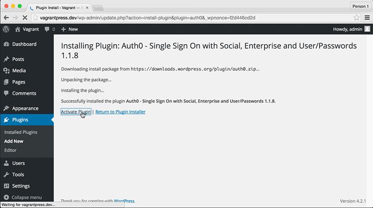 Activating Installed WordPress Plugins