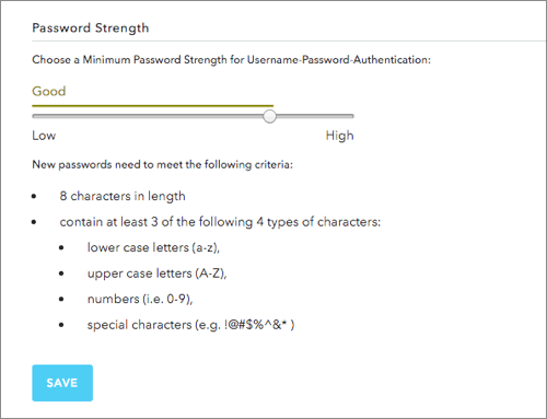 Password Strength Panel in Auth0