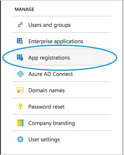 Choose App registrations