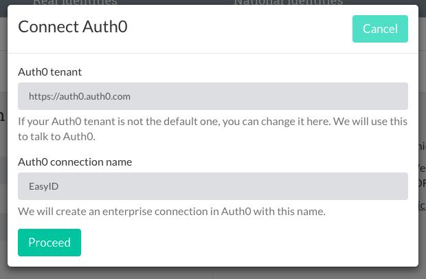 Auth0 connections details