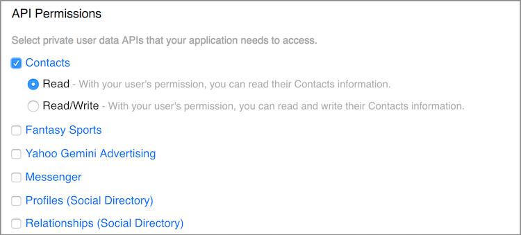 API Permissions