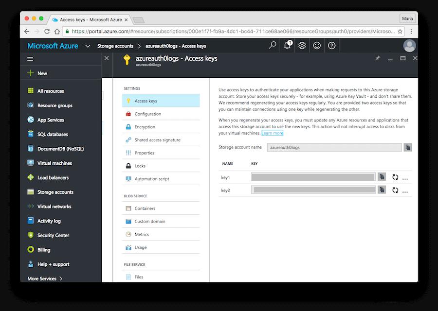 Azure Storage Account Key
