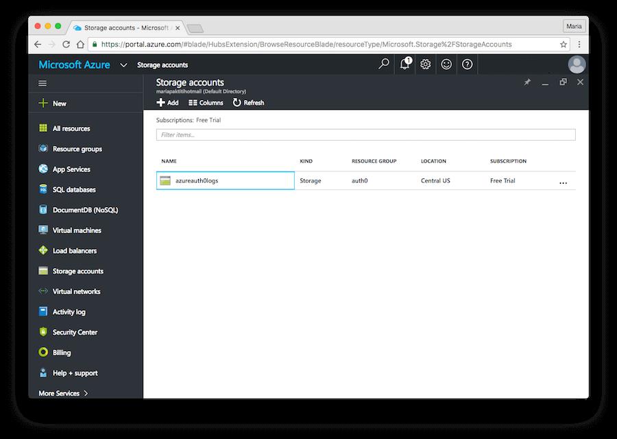 Azure Storage Account Name