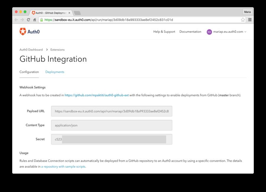 Configure Extension