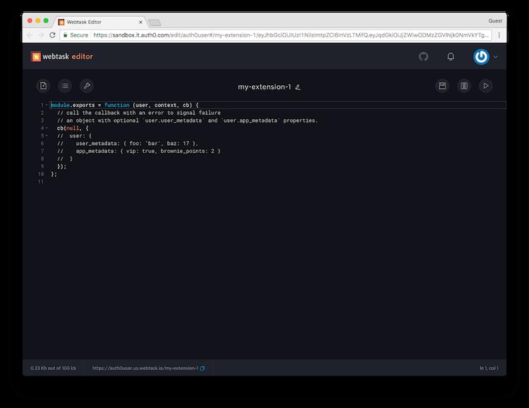 Webtask Editor