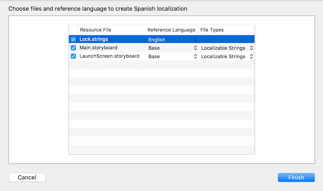 xcode add language