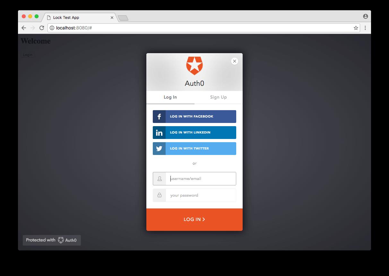 Lock - Allow Forgot Password