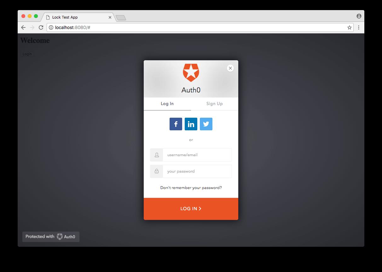 Lock - Social Button Style