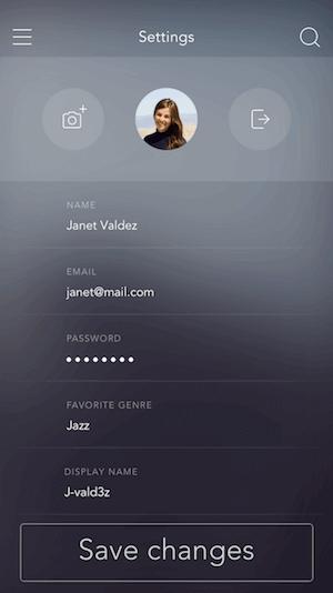 Mobile example screenshot