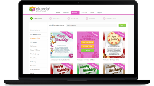 Create stunning eCards in minutes