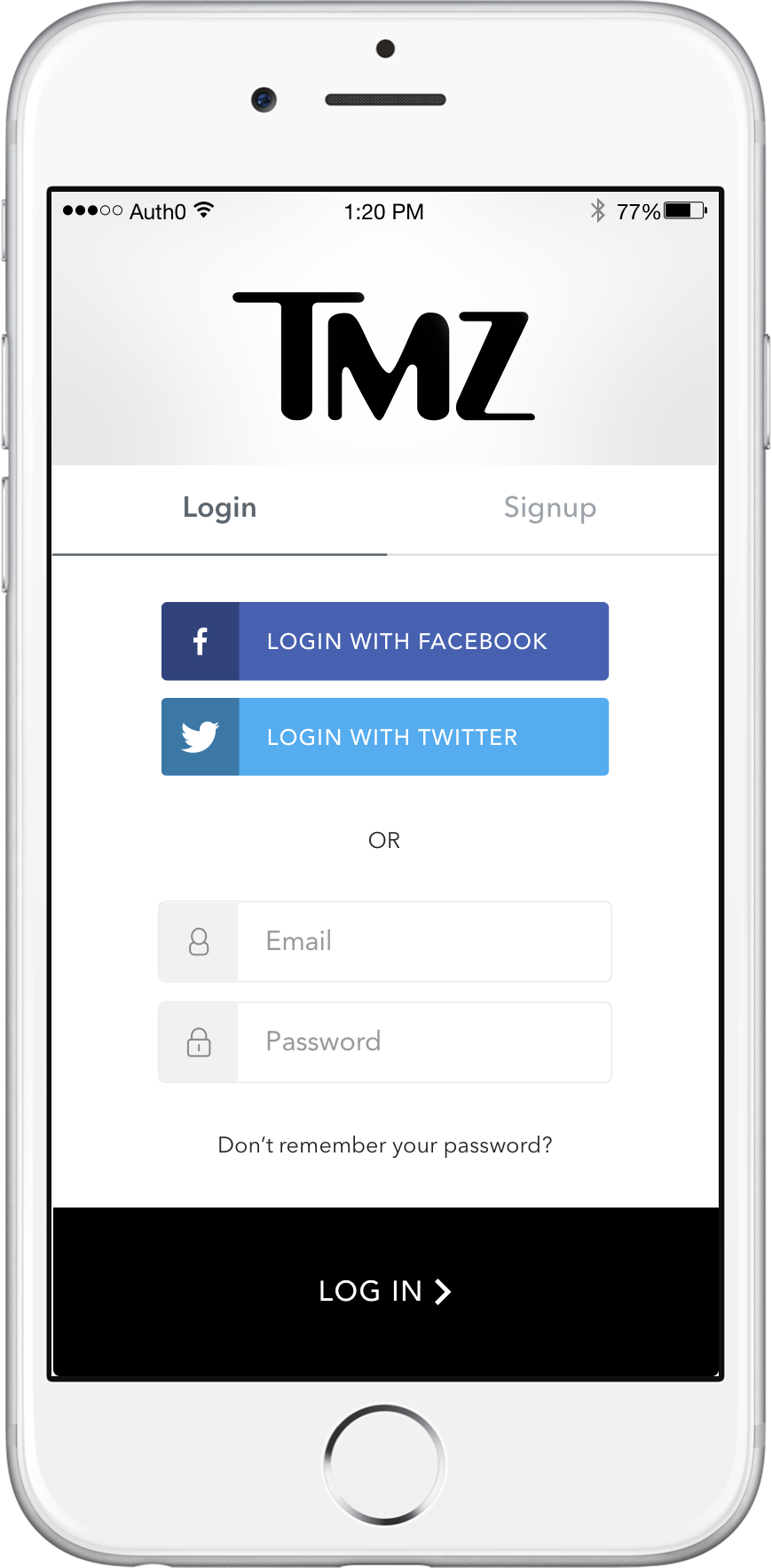 TMZ login with Lock