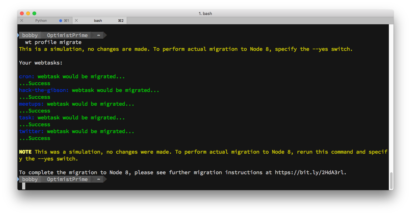 CLI Migrate Node 4 Webtasks