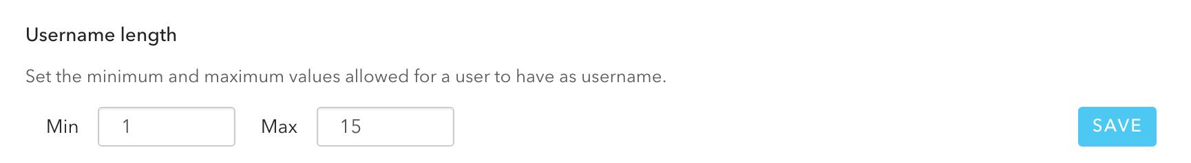 username length