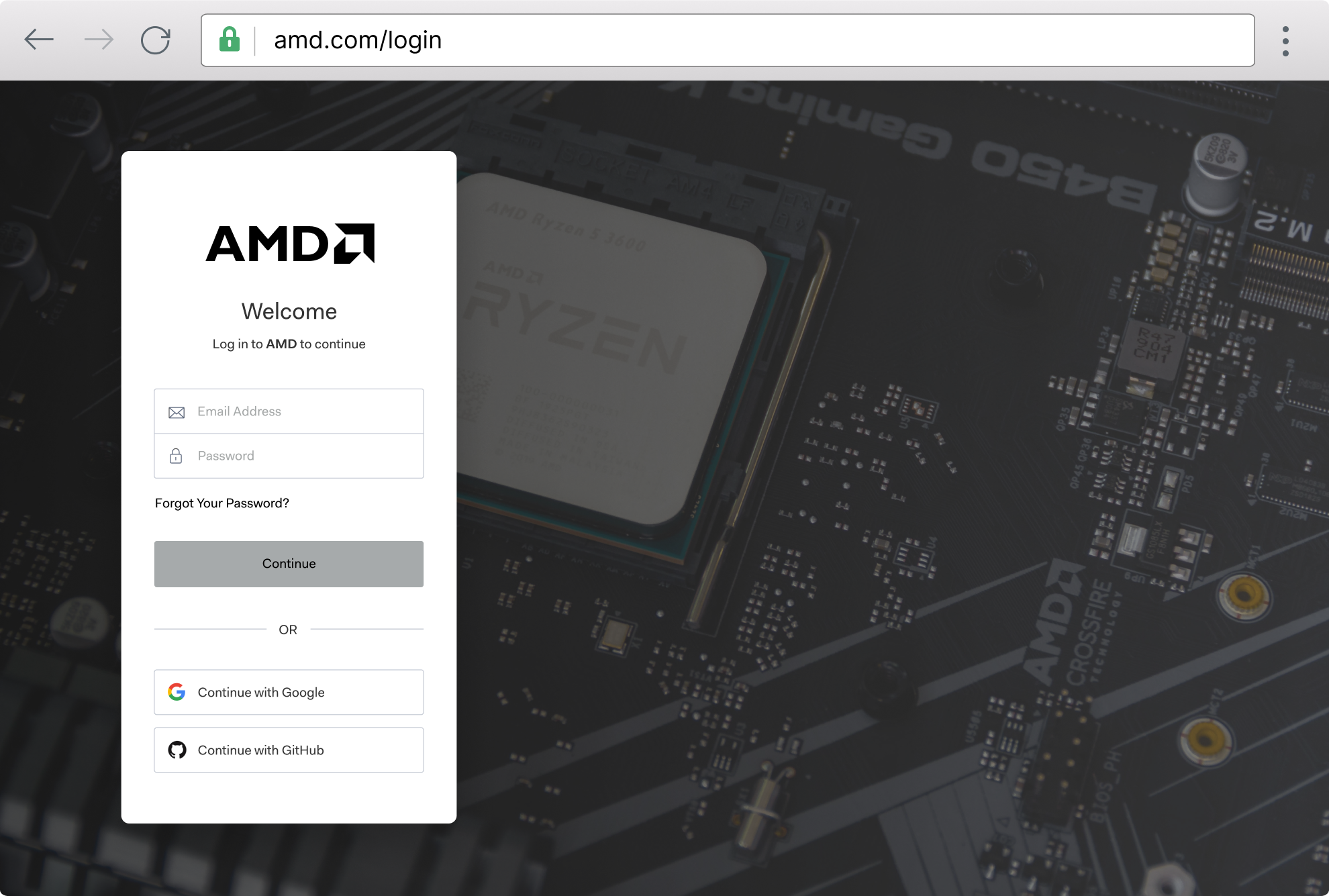 Browser example: amd