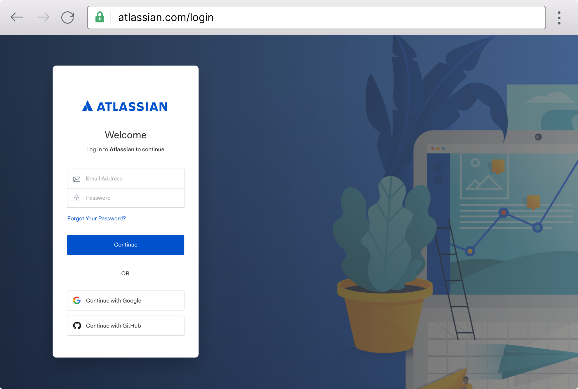 Browser example: atlassian