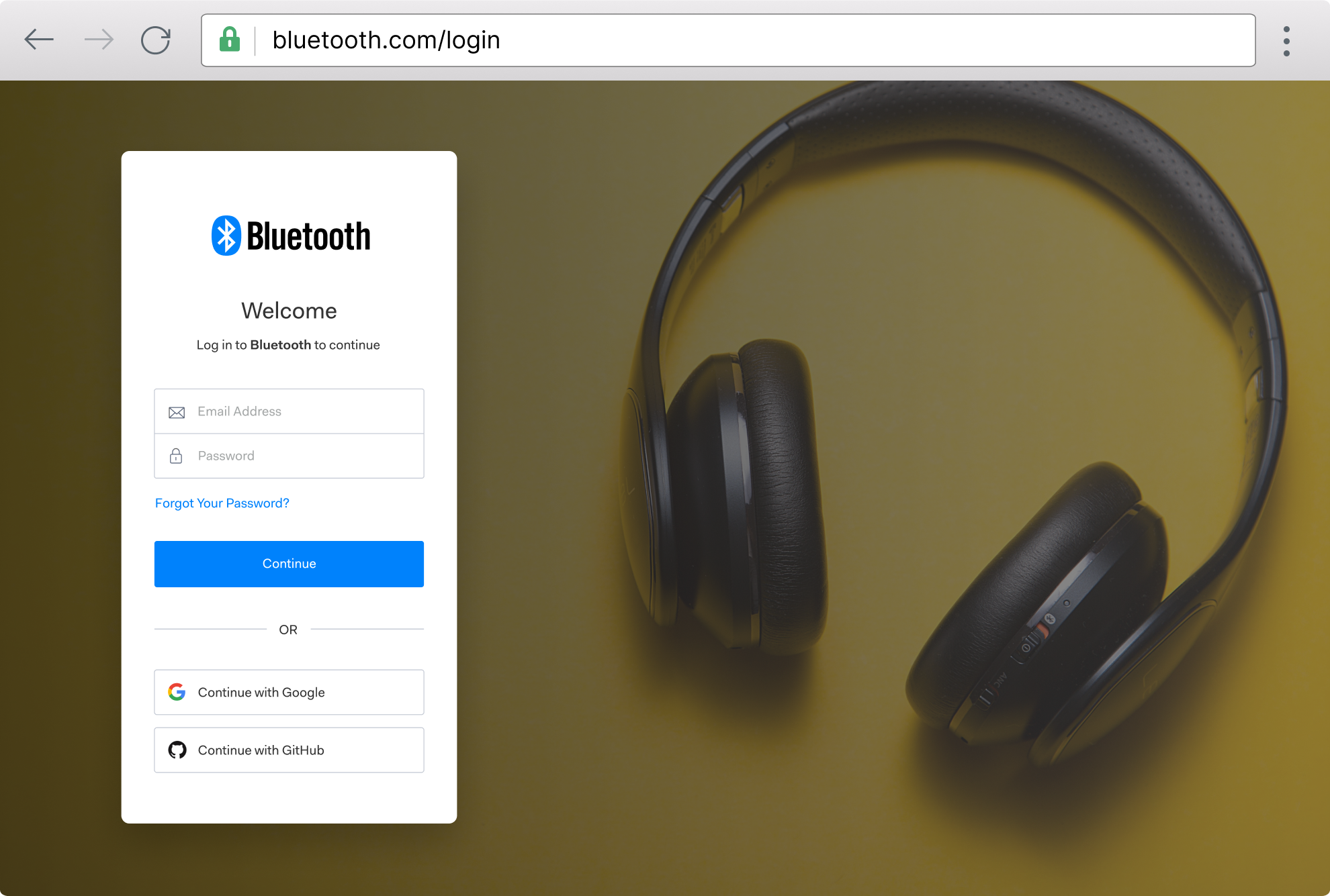 Browser example: bluetooth